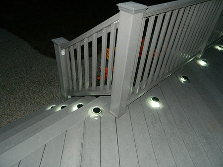 Decks with solar lights