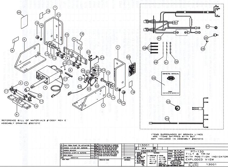 Cmc Pt 130 Tilt And Trim 13001 13002 Parts S N Pt014853