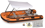 Sea Eagle 14sro Deluxe Canopy Package Sport Runabout Orange with Drop Stitch Floor. USED BOATS ARE NOT RETURNABLE.