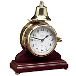 Weems & Plath Victory Bell Clock & Wood Base 823500