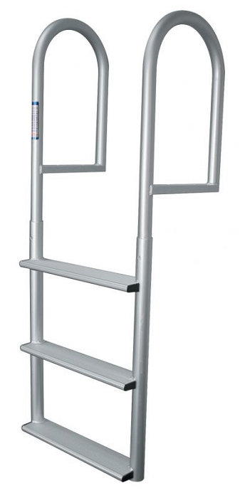 Jif Marine Djv5w Stationary Straight Dock Aluminum Ladder