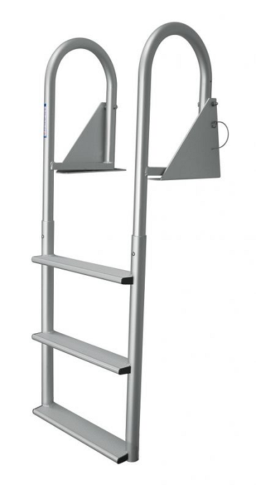 Jif Marine Djw4 W Aluminum Hinged 4 Step Dock Ladder With