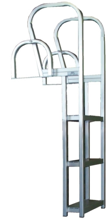 Bearcat Aluminum Square Tube Flip It Flip Up Dock Ladder