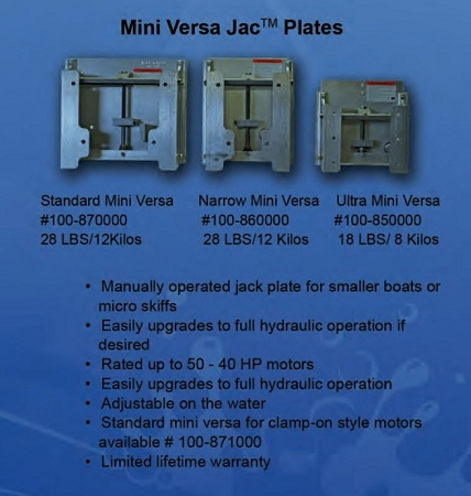 Bobs Machine Mini Versa Jack Plate 100 871000 100871000