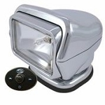 Golight Stryker H.I.D. 30261 (Chrome) with Hard Wired Dash Mount Remote
