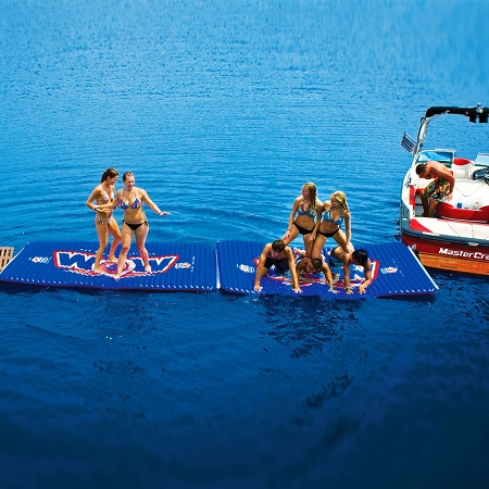 Fishing Pontoon Boats For Sale >> WOW Water Walkway - Inflatable interconnectable island mat ...