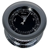 Weems & Plath Chrome Atlantis Barometer (Black Dial Matches Color Flag) 220704