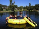 25' Giant Jump Water Trampoline - Island Hopper 25'PVCTUBE