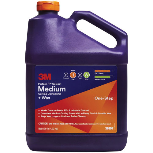 3M 36107 Perfect-It Gelcoat Medium Cutting Compound Plus Wax - Gallon
