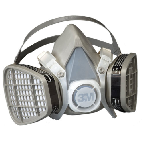 3M 5201 Half Facepiece Disposable Respirator Assembly - Organic Vapor, Medium