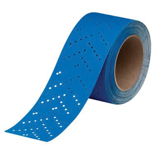 3M 7100091037 Hookit Blue Sandpaper Sheetroll - 80 Grade Multi-Hole, 2.75