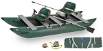 Sea Eagle 375fc FoldCat Deluxe Package Fishing Boat 375FCK_D GREEN HULL