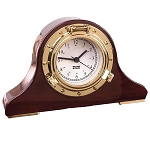 Weems & Plath Porthole Nautical Tambour Clock 410500
