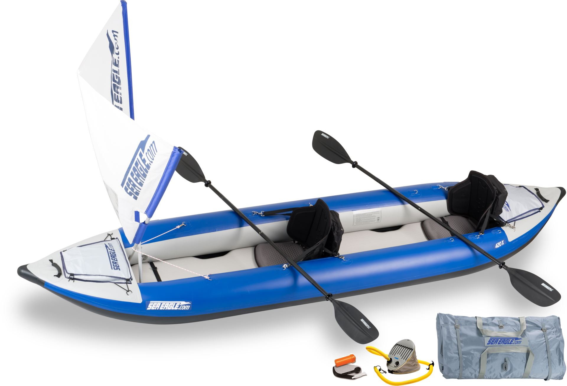 Sea Eagle 420x Explorer Deluxe QuikSail Package 420XK_QS WITH Deluxe Seats