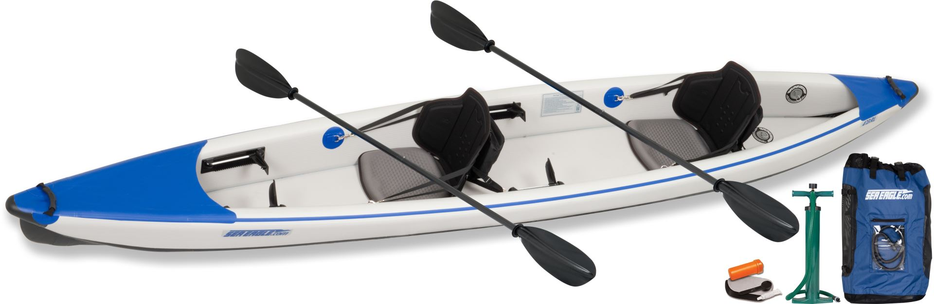 The New Sea Eagle 393RL & 473RL  RazorLite  Inflatable Kayaks and  TC16 Canoes perform like a hard body boat.