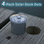 Lake Lite 4-Pack Solar Dock Dots Dock Lights LL-SDD-DOT- & H2-S3-W Solar Touchstone Dock Deck Light (sold in pair) azcodes.com