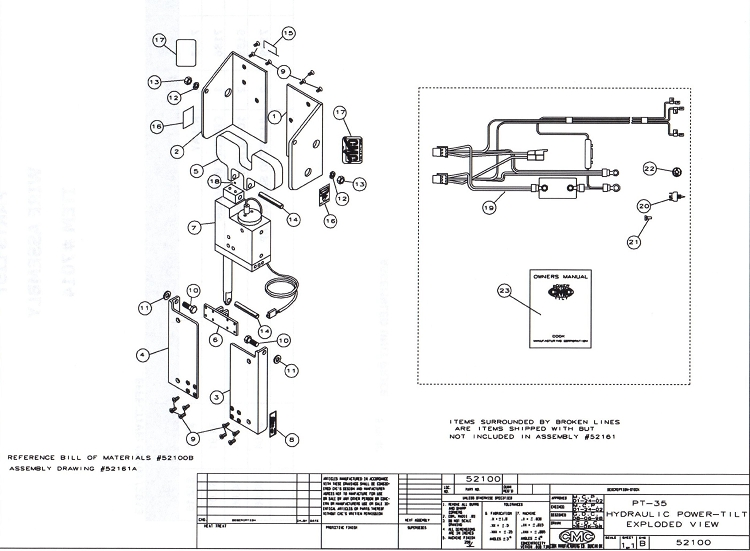52100 cmc pt 35 tilt and trim 52100 replacement parts cmc tilt and trim wiring diagram at edmiracle.co