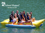 Island Hopper Elite Class Banana Boat - 6 Passenger, 13', Side-to-Side Seating PVC-6-SBS