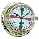 Weems & Plath Endurance II 135 Radio Room Quartz Clock w/Military Time 950509