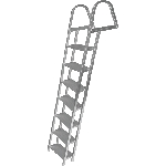 JIF Marine ASH7 7-STEP LADDER W/ MOUNTING HARDWARE