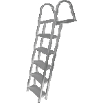 JIF Marine ASH2 5-STEP LADDER W/ MOUNTING HARDWARE  2