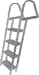 JIF Marine ASH 4-STEP LADDER W/ MOUNTING HARDWARE