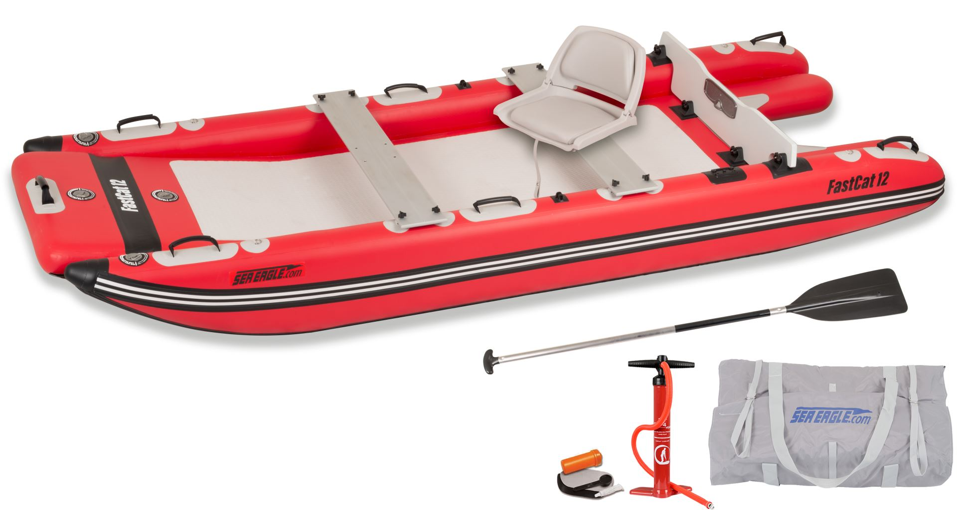 NEW FOR 2021 Sea Eagle FastCat™ 12 Catamaran Inflatable Boat