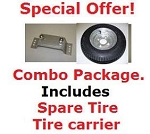 Trailex Spare Tire and Tire Carrier - Special Offer! Must Ship with Trailer