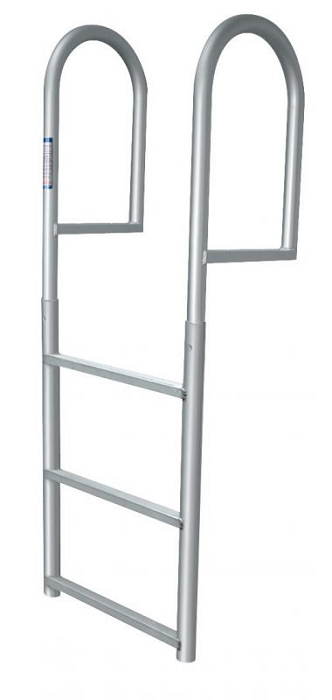 Jif Marine Djv3 Stationary Straight Dock Aluminum Ladder 3
