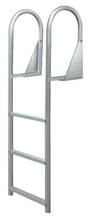 Jif Marine Djw3 Aluminum Hinged 3 Step Dock Ladder With