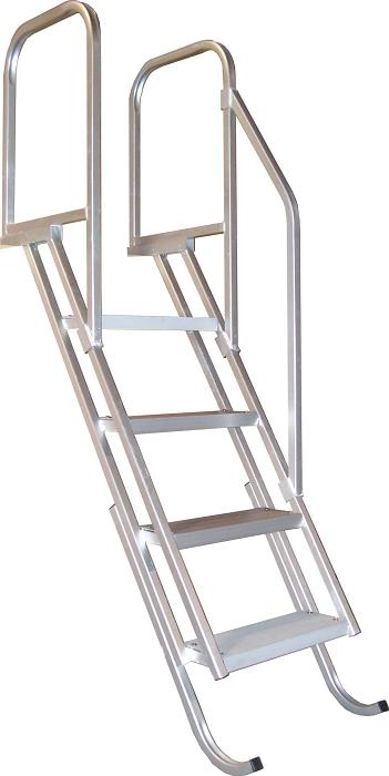 Bearcat 4 Step Dock Stair Angled Ladder Dkstp4