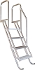 Bearcat 4 Step Dock - Stair Angled Ladder DKSTP4