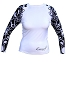Exceed Ease White L/S E3475 Womens Rash Guards