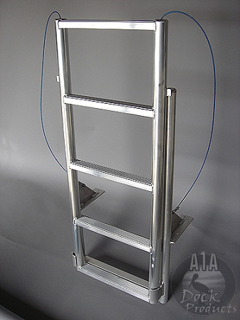 A1A Dock 5 Step Floating Dock Lift Ladder 2