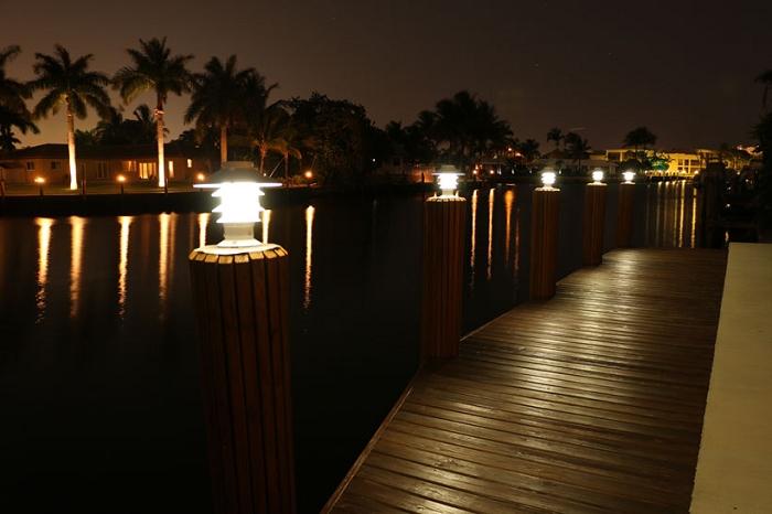 Lake lite solar pagoda piling light aloadofball Image collections
