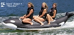 Island Hopper Whale Ride Banana Style Sled - 3 Passenger, 13', In-Line Seating PVC-3-WR