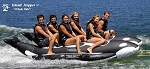 Island Hopper Whale Ride Banana Style Sled - 6 Passenger, 13', side-by-side Seating  PVC-6-WR-SBS