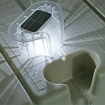 The Solar Dock Light for EZ Dock from Lake Lite - 2 Pack Dock Lights LL-SDL-EZ-V2