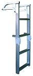 Bearcat Pontoon Fold and Store Aluminum Ladder Model 40 4 step