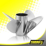 Turbo TXP OT4 Boat Propeller - (Force) 4.75 Gear Case,14 3/8 Diameter,4 Blade