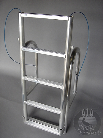 A1A Dock 5 step Short Based Lift Ladder 2
