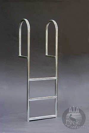 A1A Dock 4 step Regular Straight Ladder 3 1/2