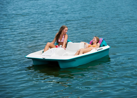 Sun Dolphin Sun Slider 5 Person Pedal - Paddle Boat with Adjustable Seats