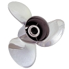 Solas Rubex NS3 High Performance Stainless Steel 3 Blade boat propeller for Bay and Bass Boats