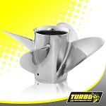 Turbo 2+2 TH Boat Propeller - (Force) 4.75 Gear Case,14 Diameter,4 Blade
