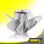 Turbo Fusion 4 Boat Propeller - (OMC Stern Sea Drive) 4.75 Gear Case,14 1/2 Diameter,4 Blade