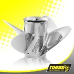 Turbo Fusion 4 Boat Propeller - (Force) 4.75 Gear Case,14 1/2 Diameter,4 Blade