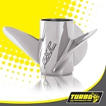 Turbo FXP Boat Propeller - (Honda) 4.75 Gear Case,14 3/4 Diameter,3 Blade