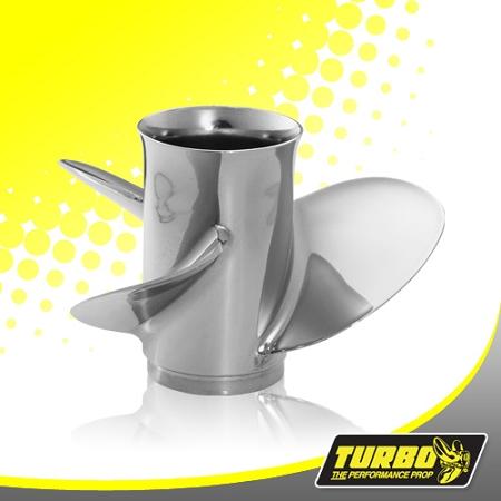 Turbo Hot Shot Boat Propeller - (Evinrude Johnson Only) 3 5 Gear Case,11  3/4 Diameter,3 Blade