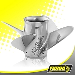 Turbo Offshore I Boat Propeller - (Force) 4.75 Gear Case,14 1/2 Diameter,4 Blade